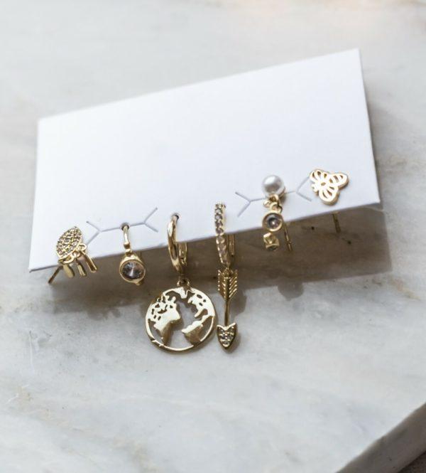 Σετ σκουλαρίκια χρυσά