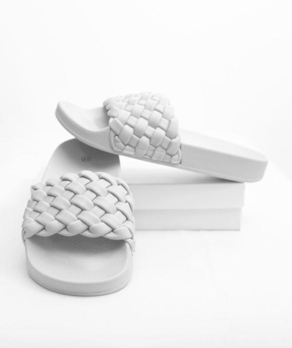 Sliders με πλέξη - Λευκό