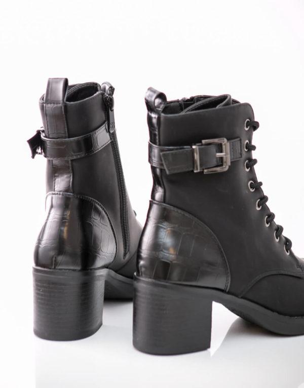 Basic αρβυλάκι με τακούνι σε μαύρο χρώμα