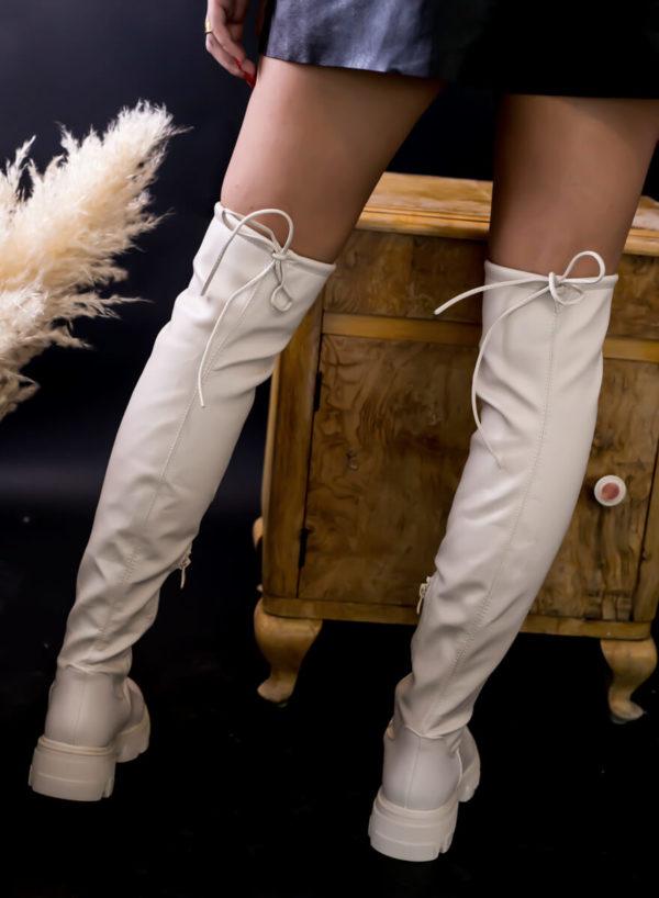 Mπότα κάλτσα πάνω από το γόνατο - Cream
