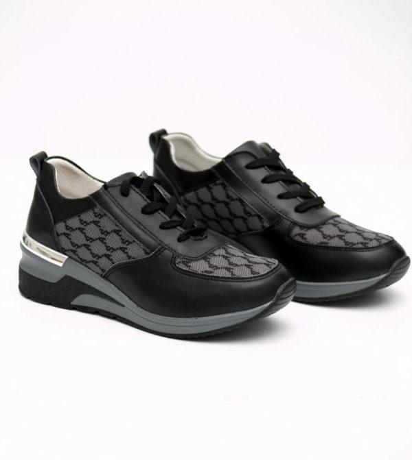 Ανατομικά Sneakers με ιδιαίτερο υλικό - Mαύρο